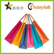 2015 environment friendly cotton handle paper shopping bag