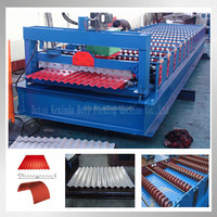 988 coated aluminum coil corrugated used metal roof panel roll forming machine