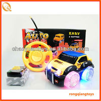 hot sale 2 channel radio control car,wheels with light RC2222566-9