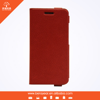 Hot selling cheap 5.5 inch microfiber material custom mobile phone flip cover case