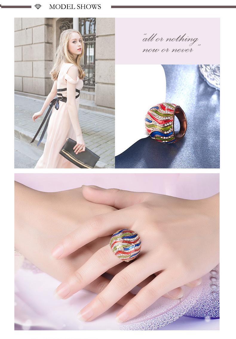 modeschmuck, tropfen rose gold multi-kreis zirkon ring weiblichen