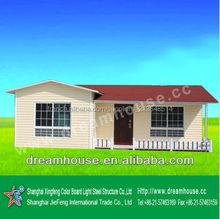High Quality Color Steel Sandwich Panel Prefabricated House/ luxury prefab homes/prefab beach home
