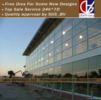 Aluminum Curtain Wall Profile With Invisible Frame