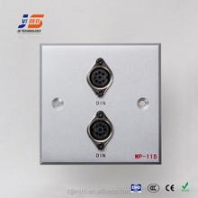 JS-WP115 DIN*2 wall socket outlet /face plates manufacturer in Beijing