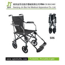 S06 Portable folding Ultra lightweight travel wheelchair