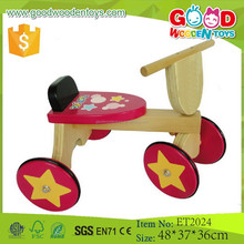 2015 Yuhe factory price fancy and lovely wooden cheap kids tricycle