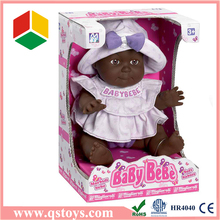 happy fun lovely ABS adorable black baby dolls for children with EN71