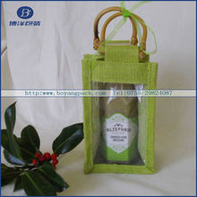 wood handle jute bag