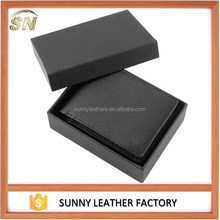 RFID leather wallet with gift box