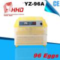 CE aprobó el mini pollo huevo incubadora automática / huevo para incubar máquina (96 huevo incubadora)