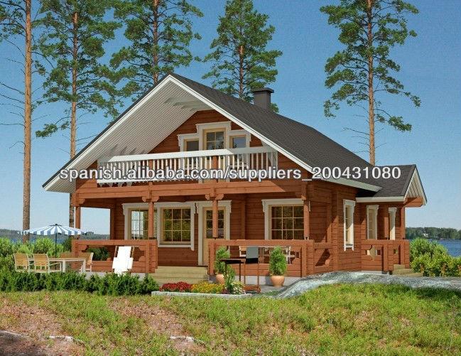 Nuevo dise o de dos pisos de casas prefabricadas de madera - Casas prefabricadas de diseno ...