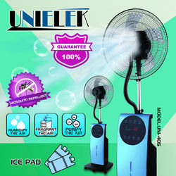 Aroma diffusion available air cooling home appliances mosquito repellent water spray mist fan