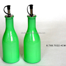 China jade glass spray color oil bottle in fashion kitchen
