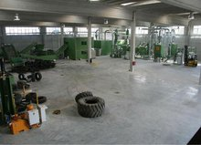 Tyres recycling equipment