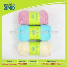 perfecto 100% algodón hilado con el proveedor de China