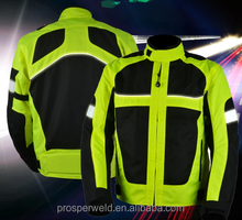 High Visibility Quality Motorcycle driving Reflective safety jacket clothing vest with EN20471 & CE standard