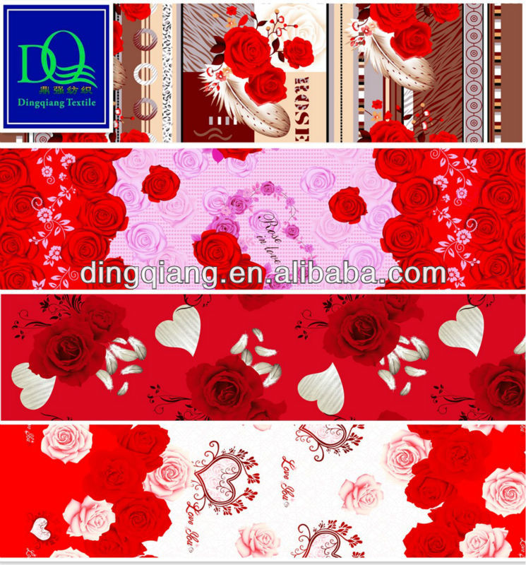 Printed fabric polyester fabric in changxing dingqiang textile co - Microfiber Polyester Bed Sheet Fabric In Dubai India