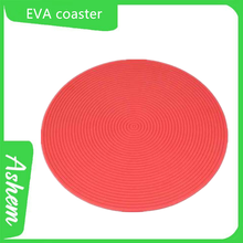 High quality red color coaster with customized hotel Logo printing AS-142