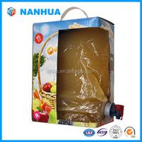 Aseptic bib bag in box for fruit juice,egg liquid,edible oil ect.