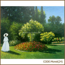 Garden landscape oil painting, Monet reproduction ,Scenery oil painting