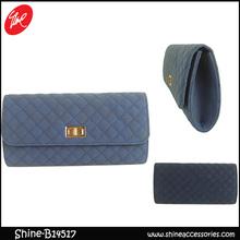 Ladies PU Ling Plaid india clutch bag
