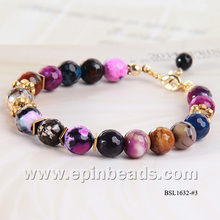 2014 Handmade fashion gemstone beads bracelet for women