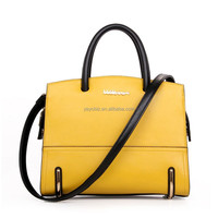 Special Offer Yellow Leather Handbags Womens Tote Bags