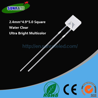 Over 20 Years Experience Ultra Bright High Quality 2.4mm*4.9*5.0 Square Lamp Led Diode Light