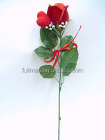 Valentine's Day/Mother's Day Gift Red Rose Bud Artificial Velvet Flowers