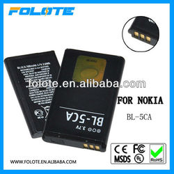 High capacity BL 5CA battery BL-5CA for nokia mobile phone 1680C