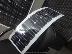 High efficiency flexible 100W 12V/24V monocrystalline solar cell panel with Sunpower cells