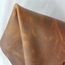 Cow split crazy horse genuine leather for handbag men shoes
