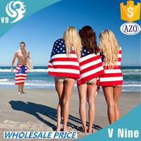 Free Sample Velour Reactive Printed Custom Promotional Beach Towel