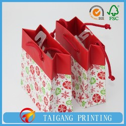 All kinds of ribbon tie mini paper gift bag wholesale