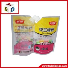 China good quality printing laminated plastic water bag,spout pouch