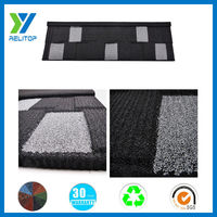 0.4mm thickness stone coated galvalume villa roofing shingle
