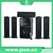 5.1home theater speaker system with strong subwoofer
