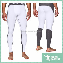 Dongguan Manufacturer Men compression clothing white custome compression pants