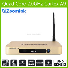 New Arrival! Zoomtak T8 Aml S802 Google 4k Android 4.4 Tv Box XBMC Quad Core Smart Tv Box 1000M Gigabit Ethenet stream box