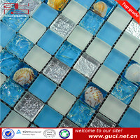 6mm thickness shell crystal glass mosaic