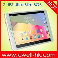 Ultra Slim Android Tablet PC PS-MX9 Android 4.4 7 Inch IPS Screen dual sim tablet