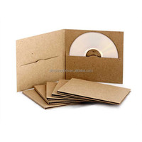 Wholesale Kraft Paper CD Sleeve DVD Package Case for wedding disc