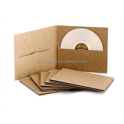 Wholesale Kraft Paper CD Sleeve DVD Package Case for wedding disc