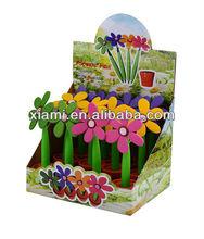 soft pvc flower pen for promotional