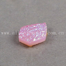 Rose pink amazing agate druzy cabochon flat druzy quartz stones wholesale prices beads