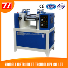2 Roll Mill Rubber Open Mill / Twin Roll Mill Two Roll Mill For Lab