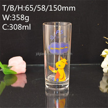 Hot sale print customized logo china supplier glass