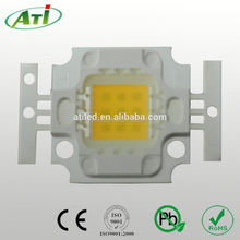 10w blue led diode,100LM/W, 3 years guarantee time, ISO9001 LED chip factory approved