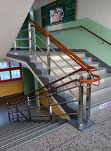 En acier inoxydable escalier main courante post, Main courante balustrade