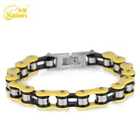 smooth stainless steel bike chain wholesale cool mens platinum bracelets